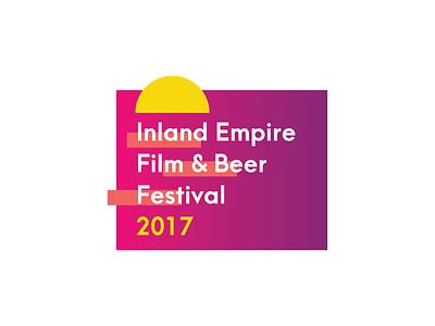 Inland Empire Film & Beer branding design minimal typography logo