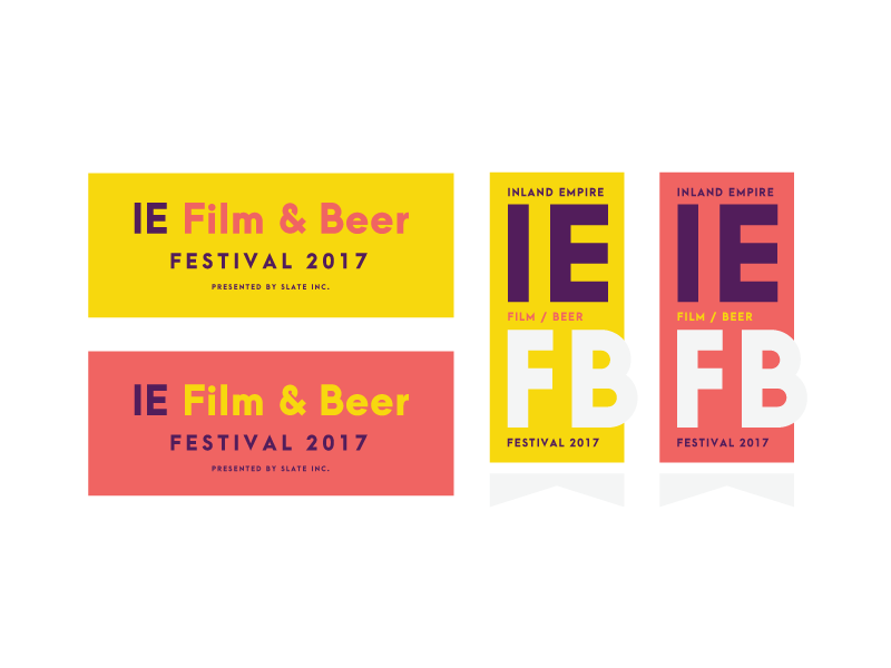 Inland Empire Film & Beer branding design minimal typography logo