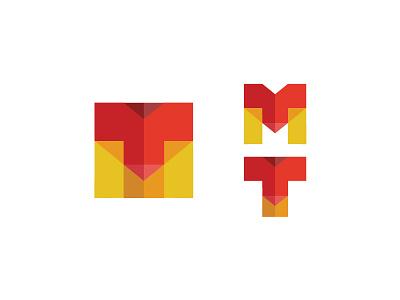 MT minimal brand illustration icon vector identity branding design logo