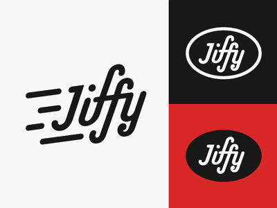 Jiffy typography design identity logo branding