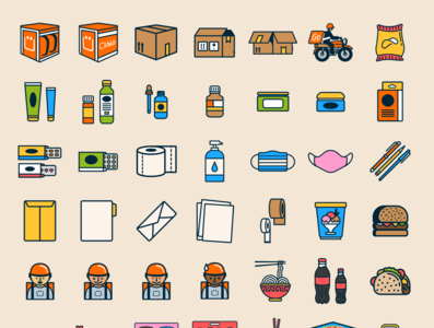 Iconos para Ubii Go ux ui design vector flat illustration icons venezuela