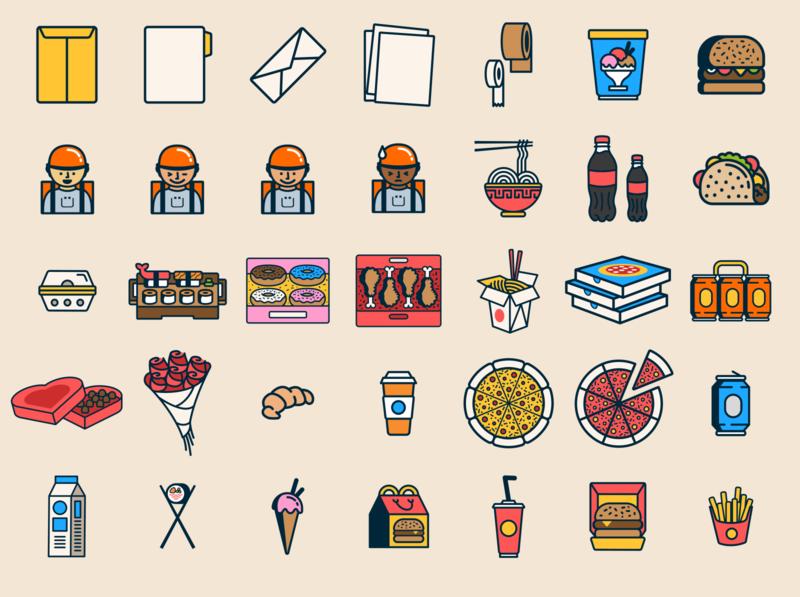 Iconos para Ubii Go II ui ux illustration flat icons iconos ilustración diseño vector venezuela