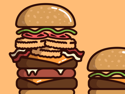Burgerlover illustration venezuela españa burger king mcdonalds burgers vectors icons food foodporn burger