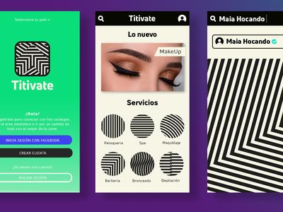 Preview de App con la Identidad de Titivate