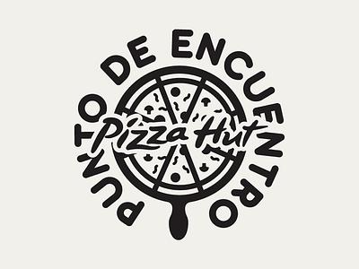Punto de Encuentro PizzaHut tipografía plano illustrator cc ilustrace icons flat punto de encuentro venezuela españa logotema branding agency logo pizza logo pizzahut pizza