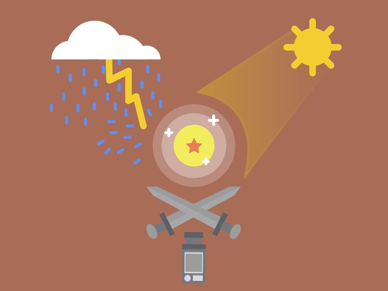 Ideas Imparables camera info dragon ball z sun illustrator cc iconos ilustración diseño venezuela españa desing flat art vectors magazine infografia ideas