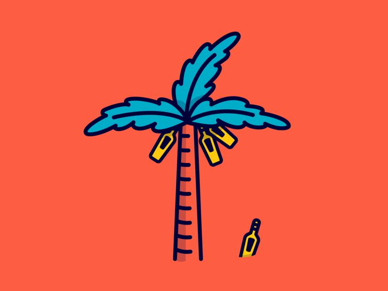 Palmera de Ron ilustrador cc marca iconos ilustración plano diseño vector venezuela españa flat flat art vectors icons palm beach palm santa teresa ron santa teresa rum ron