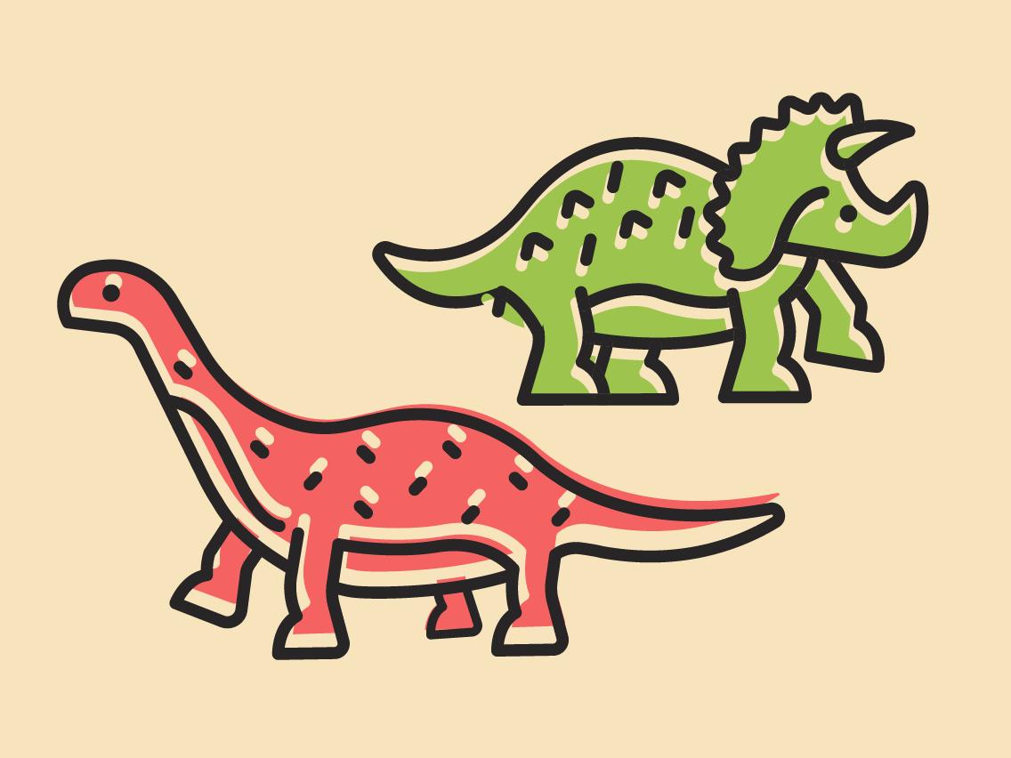 Icono de Dinosaurios vectores design patten kinds illustrator cc ilustración diseño plano vector venezuela españa dino dinos