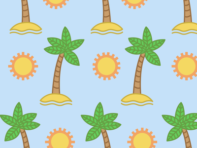 Patten Tropical summer trophy patten for kids kids caribean sun palm iconos ilustrador cc ilustración plano diseño vector venezuela españa beach patten tropical
