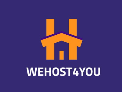 Propuesta de logo We Host for You logo mark web house host we host for you vectores ilustrador cc iconos ilustración plano diseño vector venezuela españa branding logo