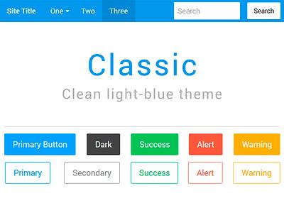 Classic Foundation Theme menu front-end framework web design ux ui button open-source theme zurb foundation