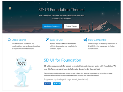 Free ZURB Foundation themes menu front-end framework web design ux ui button open-source theme zurb foundation