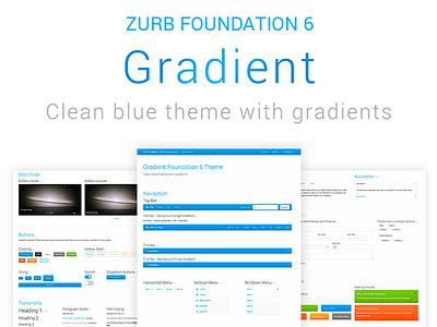 Gradient ZURB Foundation Theme github menu front-end framework web design gradient ui button open-source theme zurb foundation