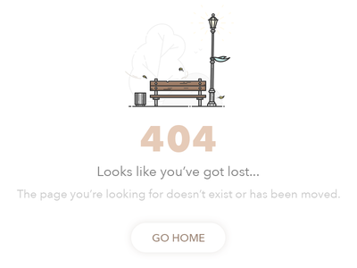 404 page removed nothing found not found web design ui simple bench website error page 404