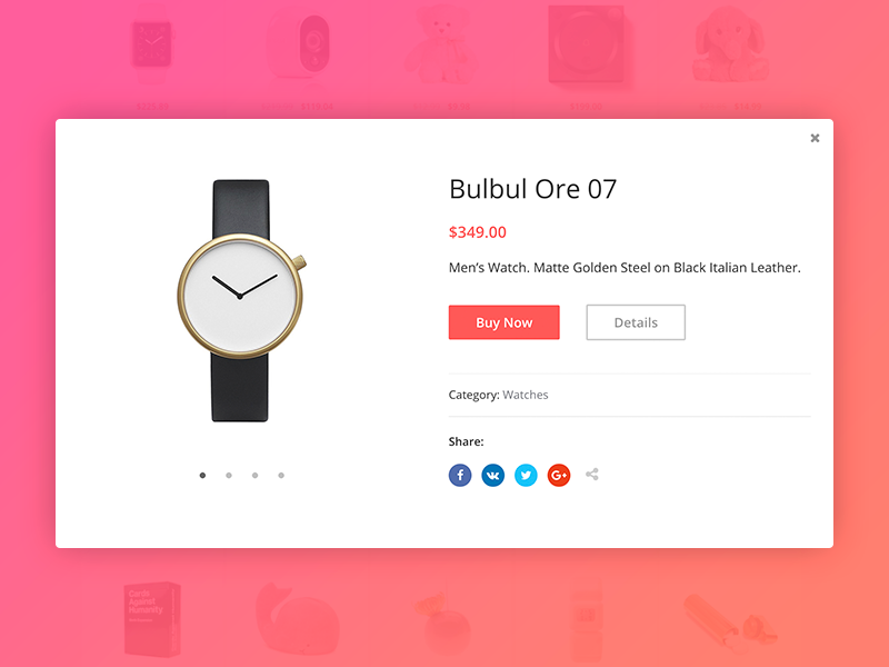 Product Quick View carousel e-commerce card preview view product popup window modal