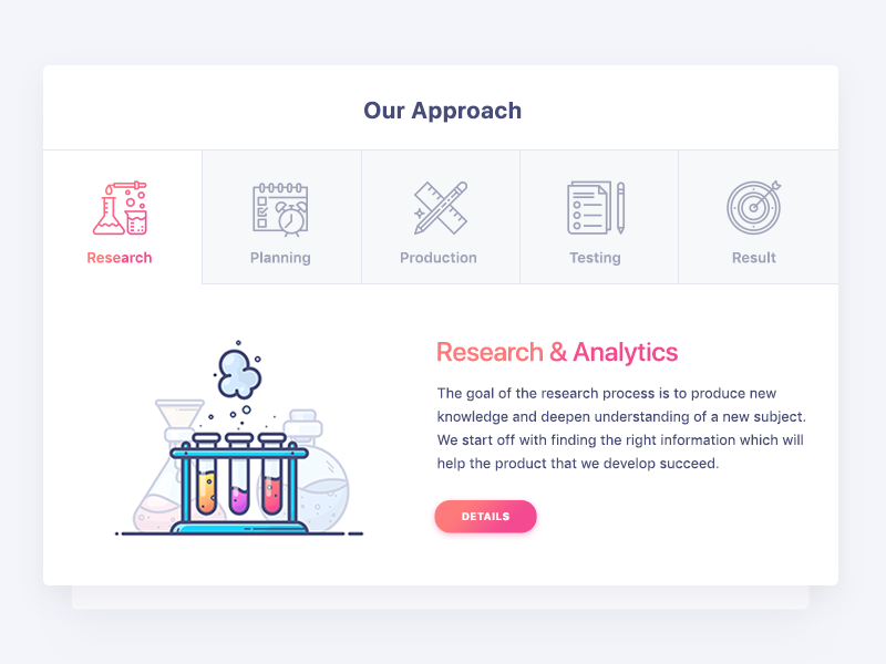 Tabs outline gradient design web illustration icon mockup research chemistry ux ui tabs