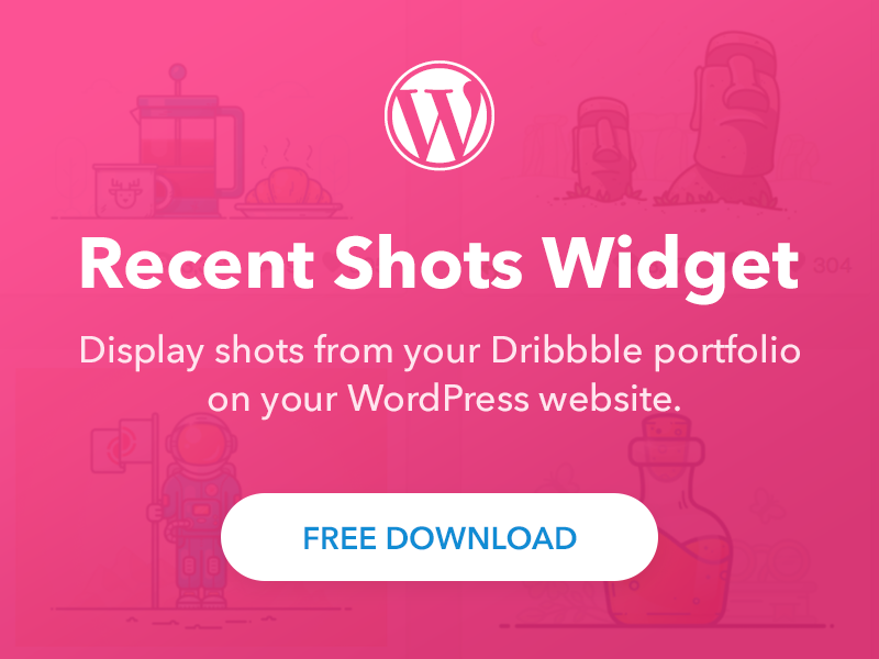 Recent Shots Widget design web freebie free plugin sidebar feed recent shot wordpress widget