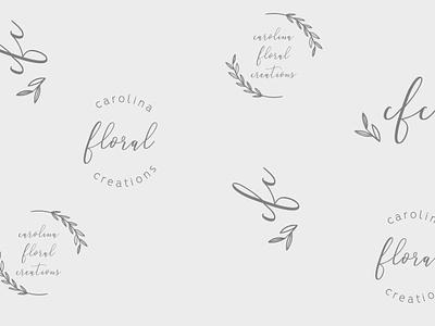 Carolina Floral Creations Logo Design brand assets brand mark brand design branding design graphic design design illustration logo design logo brand identity design branding brand identity