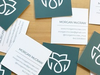 Morgan's business cards