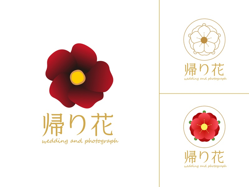 Kairihana Logo camellia flower hana photograph photo wedding