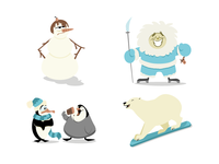 South Pole Characters