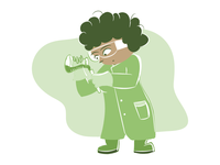 Science Learning Area Character