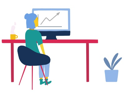 Workspace desk team procreate illustration