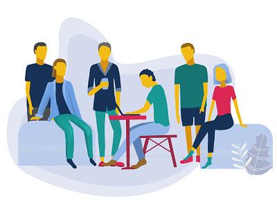 Team illustration procreate illustration teamwork team desk