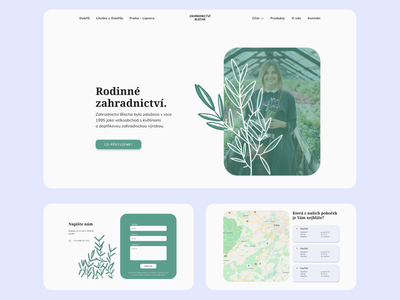 Gardening Website ux webdesign design ui figma procreate illustration