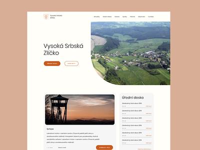 Village website - Vysoká Srbská uidesign website design village ui