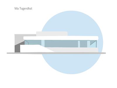 Functionalistic Villa Tugendhat minimalism illustration architecture
