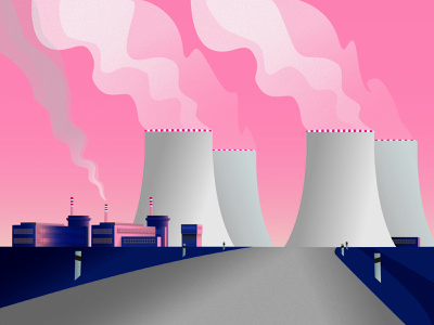Factory landscape architecture landscape scenery vector artworks vector art illustration architecture vector