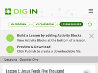 Lesson builder   class
