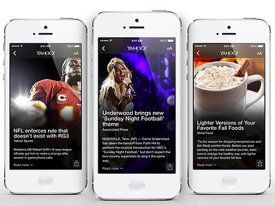 Yahoo App for iOS yahoo ios7 ios app news