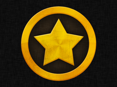 Star badge star coin badge gold icon