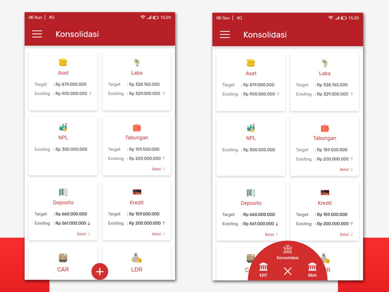 Surya Yudha Bank App fab design bank app ux design ui dashboard app android mobile clean app design ui design