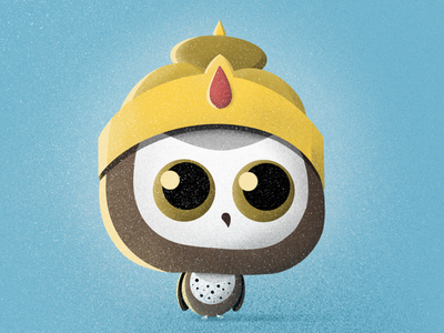 Hindi owl owl illustration procreate hindi