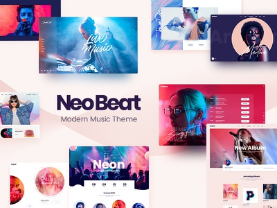 NeoBeat - Music WordPress Theme creative design themeforest theme record label music shop music producer music platform music label music festival music band music artist music festival elementor band tour band album