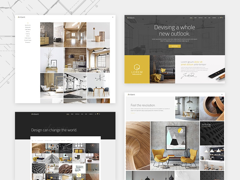 Ambient Modern Interior Design And Decoration Theme By Marijana Obradovic For Qode Interactive On Dribbble