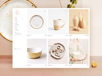 Décor Store logo beautiful fashion home decor pastel modern design themeforest bridge shop creative website ceramic