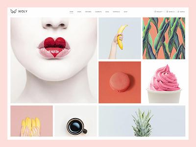 Woly beauty responsive creative branding agency studio stylish light business shop portfolio personal contemporary clean vector multi purpose web design