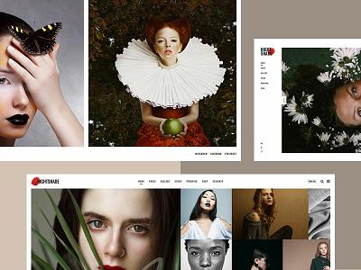 Nightshade web style design trendy photographer studio responsive stock photo studio gallery fashion portfolio photography