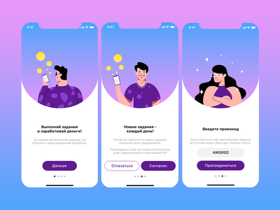 Onboarding IOS screens minimal blue app ux illustrator ui clean flat design vector illustration