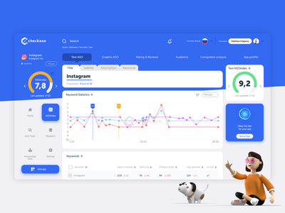 Dashboard UI for Checkaso webdesign web ui dashboard ui dashboard design platform dashboard website minimal ux ui clean web flat design