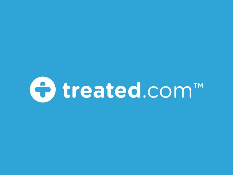 Treated.com treated patient plaster chemist pharmacy medical logo medical medicine logo design