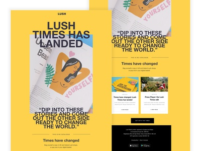 Lush Times Email Design