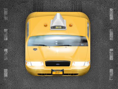 NYC Taxi App Icon by Robbie Tilton on Dribbble