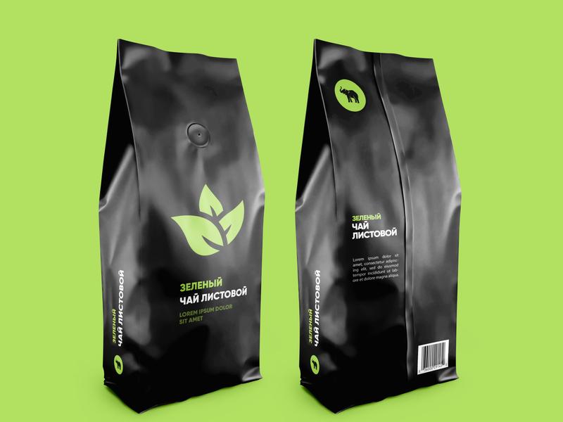 Green Tea Package green tea tea logo mockup package tea