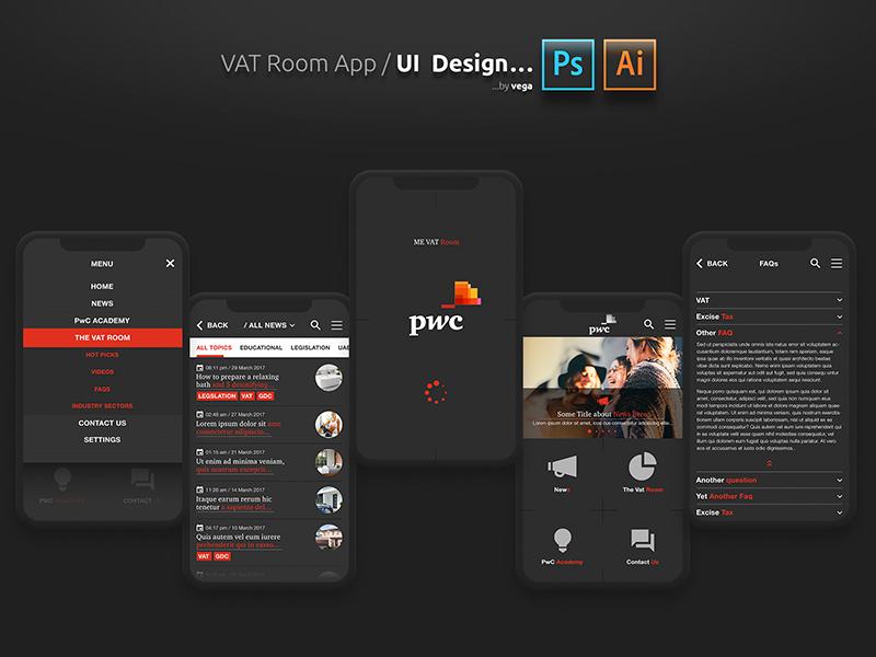 Pwc VAT Room app UI design by Vega on Dribbble