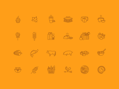 Brooklyn Grocery Store Icons